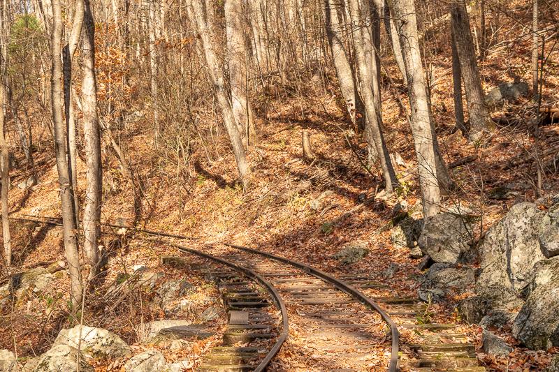 Yankee Horse Ridge Trailhead Railroad Tracks Blue Ridge Parkway Virginia