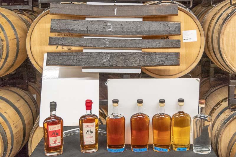 Litchfield Distillery Bourbon Barreling Process Connecticut