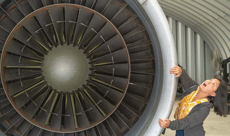 Air Mobility Command Museum Jet Engine