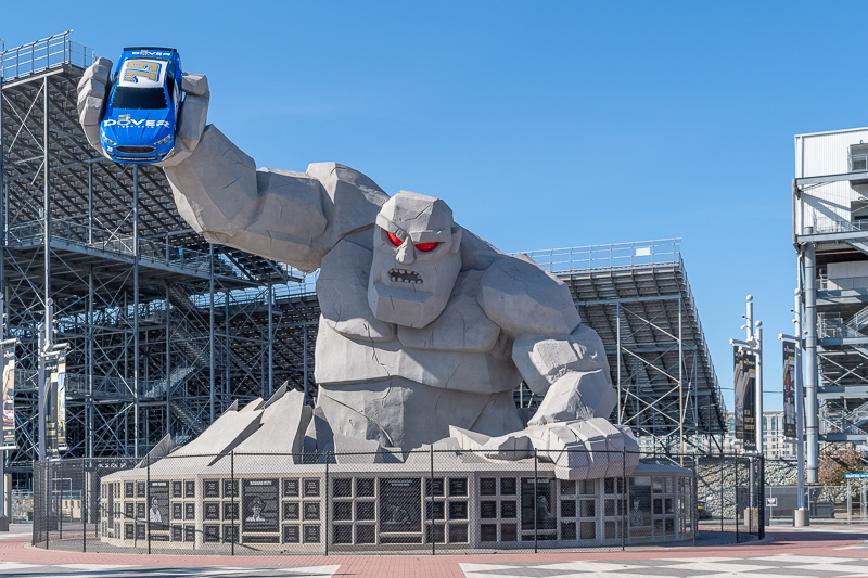 Miles the Monster at Dover International Speedway