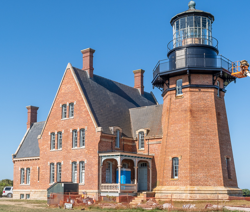 Block Island Southeast Lighthouse Under Construction
