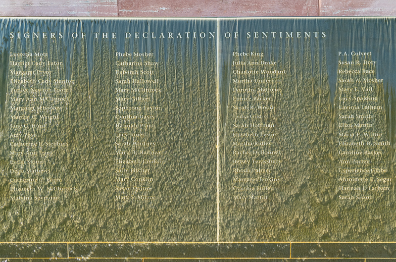 Signers of Declaration of Sentiments Waterfall