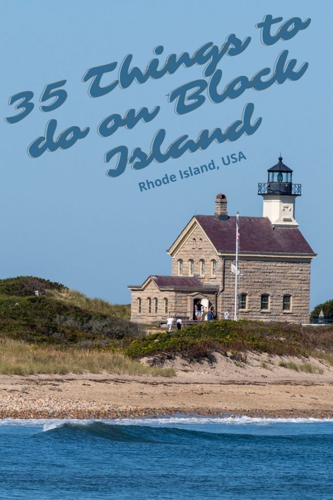There are over 35 things to do on Block Island, RI. Just the north end alone has a lighthouse, beach with seals swimming, settler's rock, and a labyrinth.